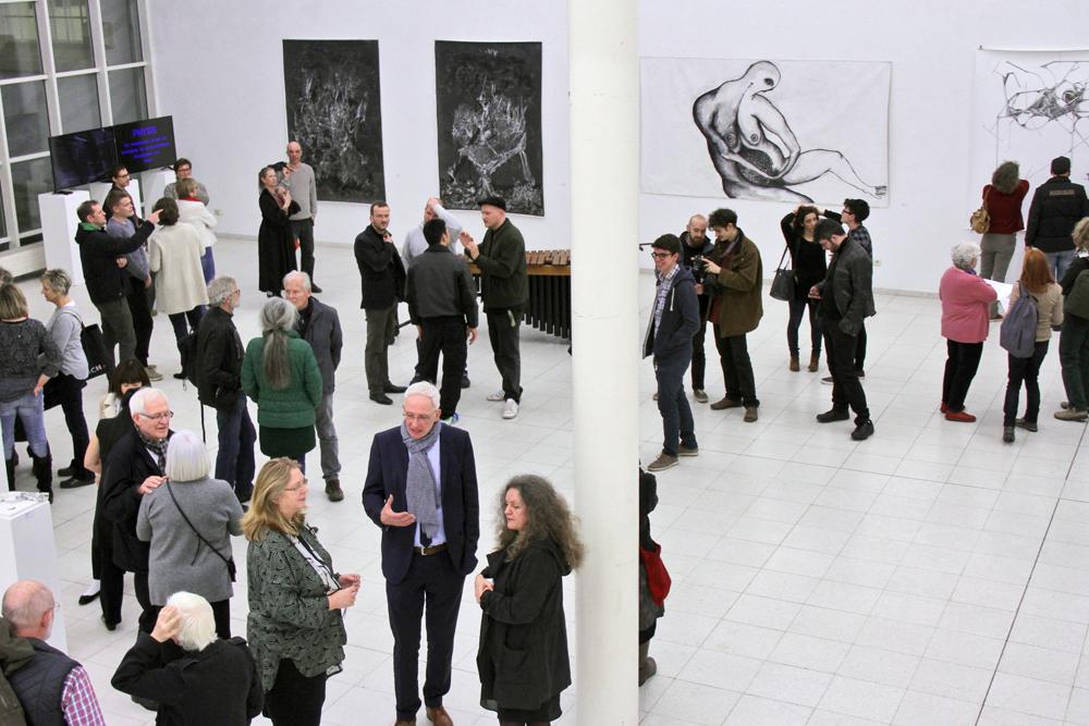 Ausstellungseröffnung PHYSIS Vision und Illusion in der Europäischen Kunstakademie Trier; copyright Amelie Conrad Archiv VgK e.V.