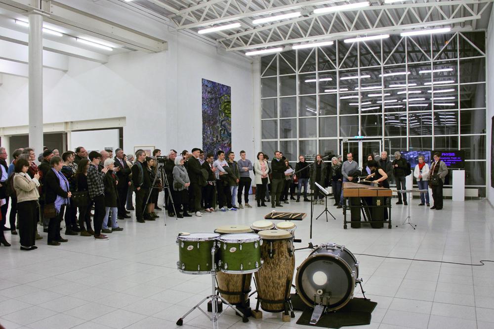Ausstellungseröffnung PHYSIS in der Europäischen Kunstakademie Trier; Sakiko Idei - Solo-Schlagzeug und Marimba, FourSchlag- Percussionquartett Trier/Koblenz
